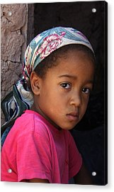 Portrait Of A Berber Girl Acrylic Print