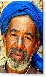 Portrait Of A Berber Man  Acrylic Print by PIXELS  XPOSED Ralph A Ledergerber Photography