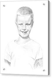 Portrait Of A Boy Acrylic Print