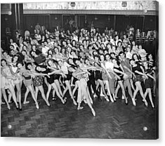 Portrait Of A Dance Group Acrylic Print by Underwood Archives