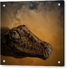 Portrait Of A Diplodocus Acrylic Print by Ramon Martinez