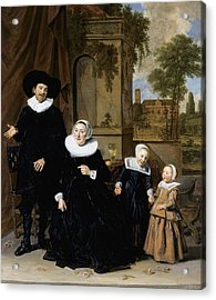 Portrait Of A Dutch Family Acrylic Print by Frans Hals