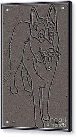 Portrait Of A Friend Poaf0000001 Acrylic Print by Pemaro