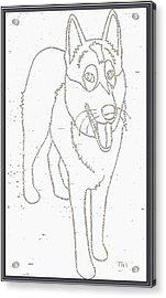 Portrait Of A Friend Poaf000001 Acrylic Print by Pemaro
