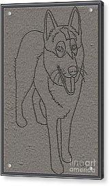 Portrait Of A Friend Poaf0001 Acrylic Print by Pemaro