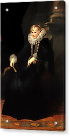 Portrait Of A Genovese Lady Acrylic Print by Mountain Dreams