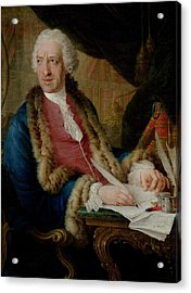 Portrait Of A Gentleman, 1767 Oil On Canvas Acrylic Print