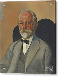 Portrait Of A Gentleman Acrylic Print by Celestial Images