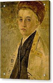 Portrait Of A Jewish Boy  Acrylic Print by Isidor Kaufmann
