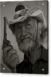 Portrait Of A Joyful Gunslinger . Viewed 244 Times  Acrylic Print