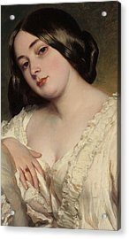 Portrait Of A Lady Acrylic Print by Franz Xaver Winterhalter
