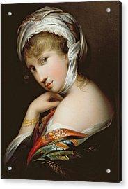 Portrait Of A Lady In Eastern Dress Acrylic Print by English School