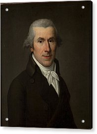 Portrait Of A Man, C.1799-1800 Oil On Canvas Acrylic Print by Jean Louis Laneuville