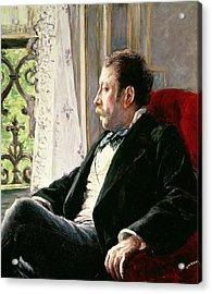 Portrait Of A Man Acrylic Print by Gustave Caillebotte