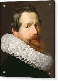 Portrait Of A Man Wearing A Ruff Acrylic Print by Dutch School