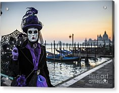 Portrait Of A Mask II Acrylic Print by Yuri Santin