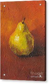 Portrait Of A Pear Acrylic Print by Sandy Linden