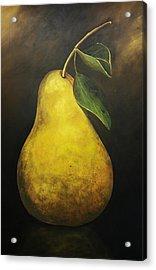 Portrait Of A Pear Acrylic Print by Terri  Meyer