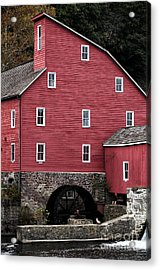 Portrait Of A Red Mill Acrylic Print by John Rizzuto