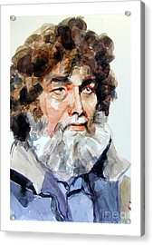 Watercolor Portrait Of A Sailor Acrylic Print