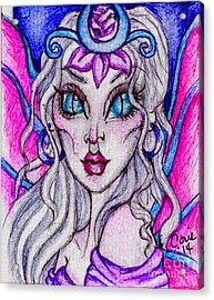Portrait Of A Sidhe Queen- Altheia Acrylic Print by Coriander  Shea