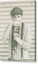 Portrait Of A Surprised Photographer Acrylic Print