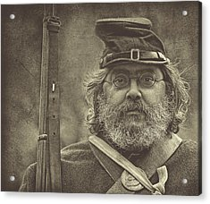 Portrait Of A Union Soldier Acrylic Print by Pat Abbott