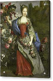 Portrait Of A Woman, According To Tradition Marie Louise Acrylic Print by Litz Collection
