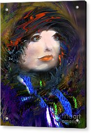 Portrait Of A Woman From A Long Time Ago Acrylic Print by Doris Wood