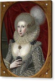 Portrait Of A Woman, Possibly Frances Cotton, Lady Montagu Acrylic Print