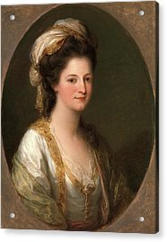 Portrait Of A Woman, Traditionally Identified As Lady Hervey Acrylic Print by Litz Collection