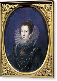 Portrait Of A Young Aristocratic Lady Acrylic Print