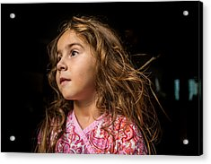 Portrait Of A Young Girl. Acrylic Print by Fran Polito