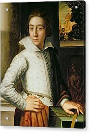 Portrait Of A Young Man, Mid-sixteenth Acrylic Print by Florentine School