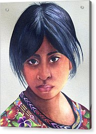 Portrait Of A Young Mayan Girl Acrylic Print