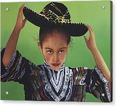 Portrait Of A Young Mexican Girl Acrylic Print