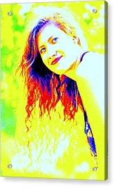 Portrait Of A Young Woman 5 Acrylic Print by Mamie Gunning