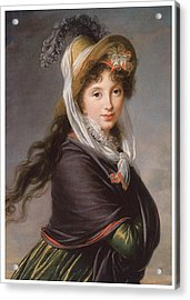 Portrait Of A Young Woman Acrylic Print by Marie Louise Elisabeth Vigee-Le Brun