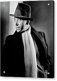 Portrait Of Actor George Raft Acrylic Print by Lusha Nelson