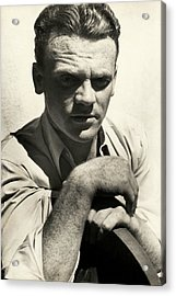 Portrait Of Actor James Cagney Acrylic Print by Imogen Cunningham