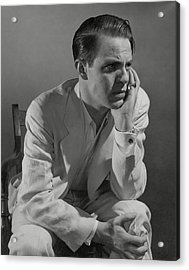 Portrait Of Actor Louis Hayward Acrylic Print by Edward Steichen