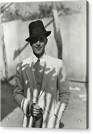 Portrait Of Actor Phillips Holmes Acrylic Print by George Hoyningen-Huene
