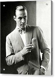 Portrait Of Actor Rudolph Valentino Acrylic Print