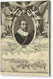 Portrait Of Admiral Maarten Tromp At The Age Of 42 Acrylic Print by Cornelis Van Dalen (i)