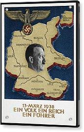 Portrait Of Adolf Hitler Acrylic Print