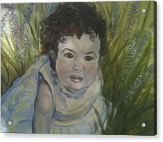 Portrait Of Alexandra Rose Acrylic Print