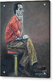 Portrait Of Ali Akrei - The Painter Acrylic Print