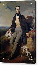 Portrait Of Alphonse De Lamartine 1790-1869 1830 Oil On Canvas Acrylic Print