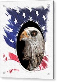 Portrait Of America Acrylic Print by Tom Mc Nemar