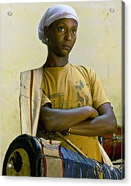 Portrait Of An Afro-cuban Drummer Acrylic Print